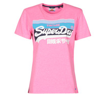 Clothing Women Short-sleeved t-shirts Superdry VL CALI TEE 181 Pink