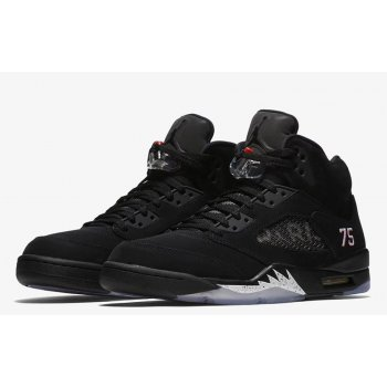 Shoes Hi top trainers Nike Air Jordan 5 x PSG Black Black/White-Challenge Red