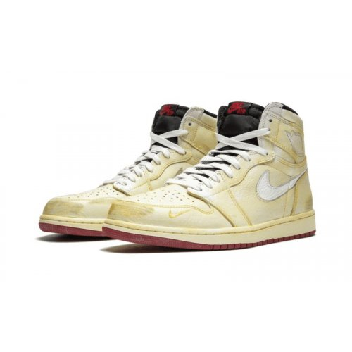 Shoes Hi top trainers Nike Air Jordan 1 High x Nigel Sylverster Sail/White-Varsity Red-Reflect Silver