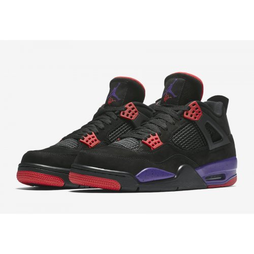 Shoes Hi top trainers Nike Air Jordan 4 Raptors Black/University Red-Court Purple