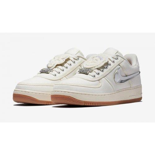 Shoes Low top trainers Nike Air Force 1 x Travis Scott Sail Sail/Sail