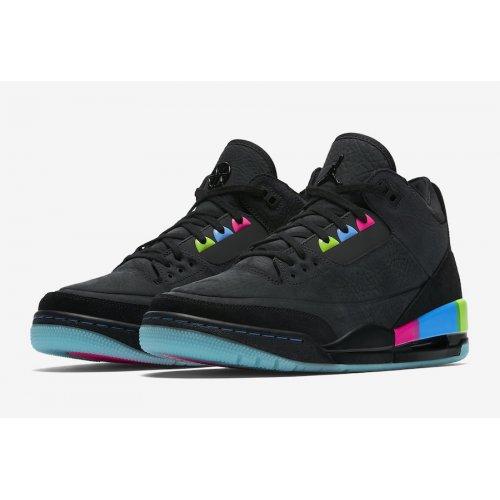 Shoes Low top trainers Nike Air Jordan 3 x Quai 54 Black/Electric Green-Infrared 23-Black