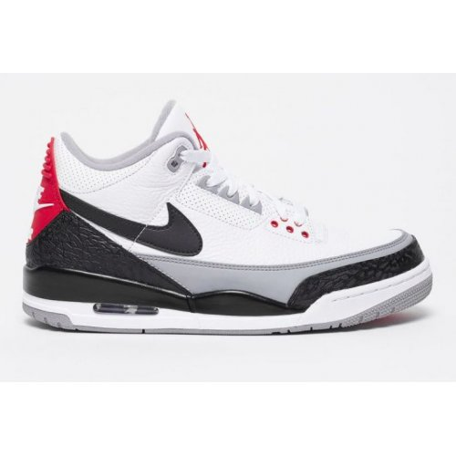 Shoes Low top trainers Nike Air Jordan 3 Tinker NRG White/Fire Red-Black