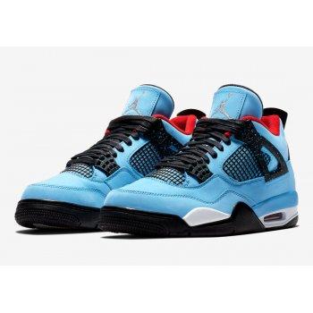 Shoes Hi top trainers Nike Air Jordan 4 x Travis Scott University Blue/Varsity Red-Black