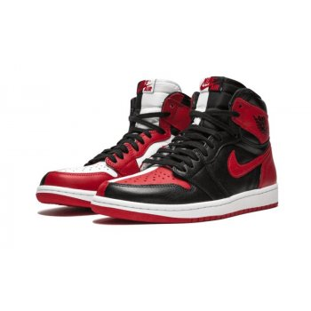 Shoes Low top trainers Nike Air Jordan 1 Homage To Home Black/White-University Red