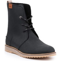 Shoes Women Ankle boots Lacoste 34CAW0002 synthetic leather lifestyle shoes. black