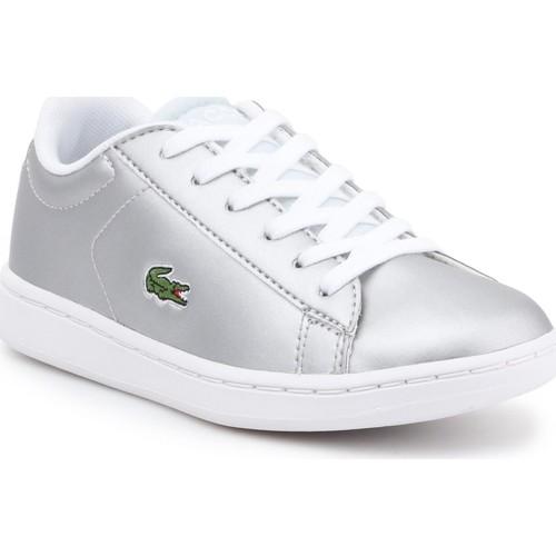 Shoes Children Low top trainers Lacoste children's shoes 7-34SPC0006334 silver