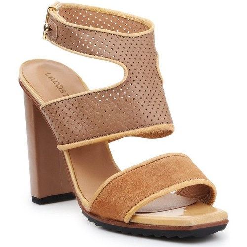 Shoes Women Sandals Lacoste 7-25SRW1201158 high heels for women brown