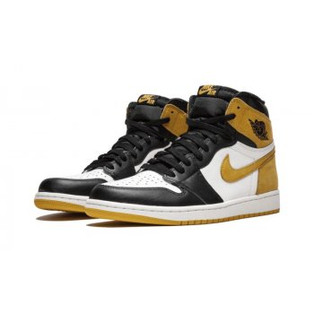Shoes Low top trainers Nike Air Jordan 1 High Yellow Ochre Summit White/Black/Yellow Ochre