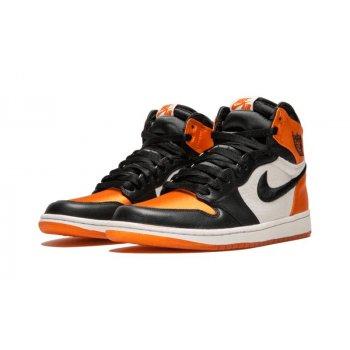 Shoes Low top trainers Nike Air Jordan 1 High Satin Shattered Backboard Black/Starfish-Sail-Black