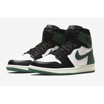 Shoes Low top trainers Nike Air Jordan 1 High Clay Green Summit White/Black-Clay Green