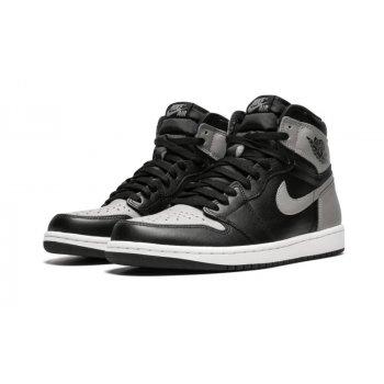 Shoes Hi top trainers Nike Air Jordan 1 High Shadow Black/Soft Grey