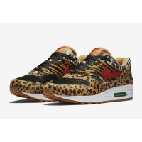 Shoes Low top trainers Nike Air Max 1 Animal Wheat/Bison-Classic Green-Sport Red