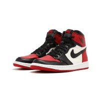 Shoes Hi top trainers Nike Air Jordan 1 High Bred Toe Gym Red/Black-Summit White