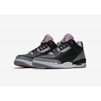 Shoes Low top trainers Nike Air Jordan 3 Black Cement Black/Cement Grey-White-Fire Red