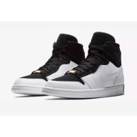 Shoes Low top trainers Nike Air Jordan 1 High Equality Black/Black/White-Metallic Gold