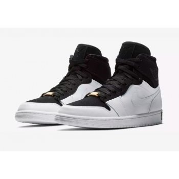 Shoes Hi top trainers Nike Air Jordan 1 High Equality Black/Black/White-Metallic Gold