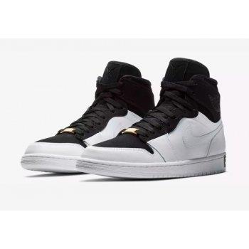 Shoes Low top trainers Nike Air Jordan 1 High Equality Black/Black/White-Metallic Gold