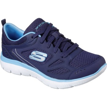 Shoes Women Low top trainers Skechers 12982-NVBL-030 Summits Suited Navy and Blue