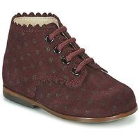Shoes Girl Hi top trainers Little Mary VIVALDI Bordeaux