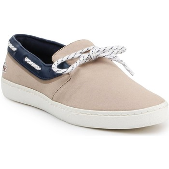 Shoes Men Low top trainers Lacoste Gazon Deck lifestyle shoes 7-31CAM0005LR3 beige