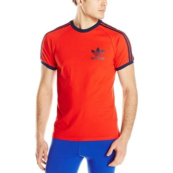 Clothing Men Short-sleeved t-shirts adidas Originals Adidas T-shirt S18427 red