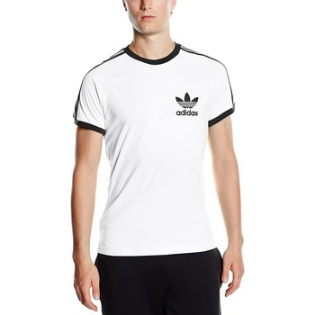 Clothing Men Short-sleeved t-shirts adidas Originals Adidas T-shirt S18420 white