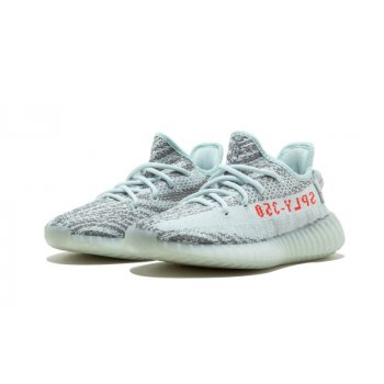Shoes Low top trainers adidas Originals Yeezy 350 V2 Blue Tint  Blue Tint / Grey Three / Hi-Res Red
