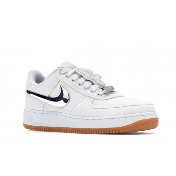 Shoes Low top trainers Nike Air Force 1 Low Travis Scott White White/White-White