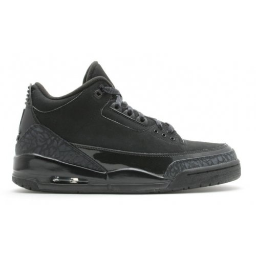 Shoes Low top trainers Nike Air Jordan 3 Black Cat Black/Black-Black