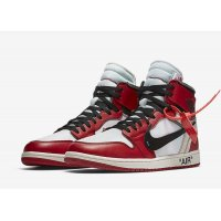 Shoes Hi top trainers Nike Air Jordan 1 High x Off-White Chicago White/Black-Varsity Red