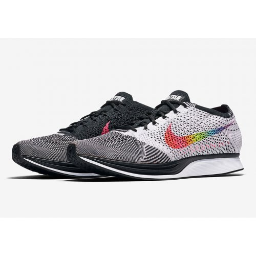 Shoes Low top trainers Nike Flyknit Racer Be True White/Multi-Color-Black-Pink Blast