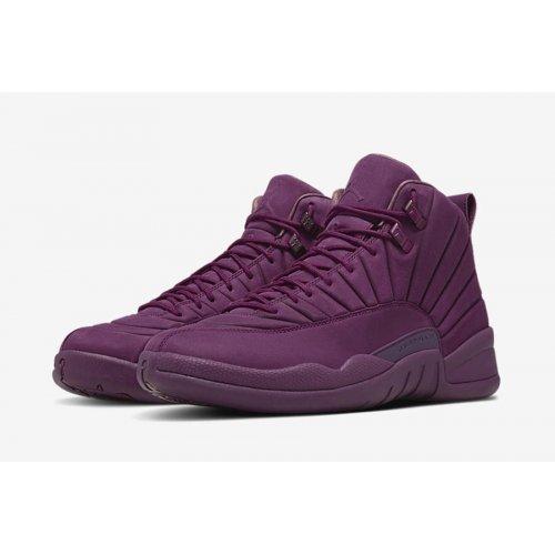 Shoes Hi top trainers Nike Air Jordan XII PSNY Paris Bordeaux/Bordeaux-Bordeaux