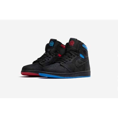 Shoes Hi top trainers Nike Air Jordan 1 High Quai 54 Black/University Red/Game Royal