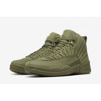 Shoes Hi top trainers Nike Air Jordan XII PSNY Milan Olive/Olive-Olive