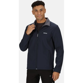 Clothing Men Coats Regatta CERA V RATIO PK Softshell Navy Marl Blue Blue
