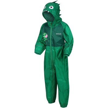 Clothing Children Jumpsuits / Dungarees Regatta Peppa Pig CHARCO PuddleSuit Green