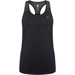 Clothing Women Tops / Sleeveless T-shirts Dare 2b YOU'RE A GEM Wicking Vest White Black Black Black
