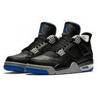 Shoes Hi top trainers Nike Air Jordan 4 Game Royal Black/Game Royal-Matte Silver-White