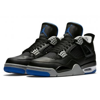 Shoes Hi top trainers Nike Air Jordan 4 Game Royal Black/Game Royal-Matte Silver-White