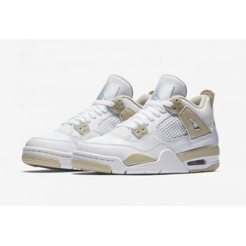Shoes Hi top trainers Nike Air Jordan 4 Gs Linen White/Boarder Blue-Light Sand