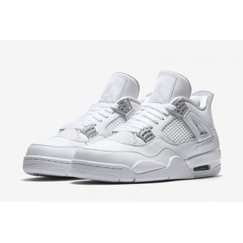 Shoes Hi top trainers Nike Air Jordan 4 Pure Money White/Metallic Silver-Pure Platinum