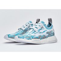 Shoes Low top trainers adidas Originals NMD R1 Primeknit datamosh Lab Green White/Clear Aqua/Lab Green