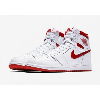 Shoes Hi top trainers Nike Air Jordan 1 High Metallic Red  White/Varsity Red