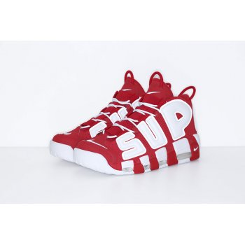 Shoes Hi top trainers Nike Air Utempo x Supreme Red Red/White