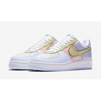 Shoes Low top trainers Nike Air Force 1 Low Easter Titanium/Lime Ice-Storm Pink