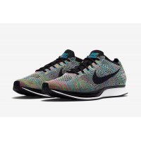 Shoes Low top trainers Nike Flyknit racer Multi-color 2.0 Multi-Color/Black-Blue Lagoon