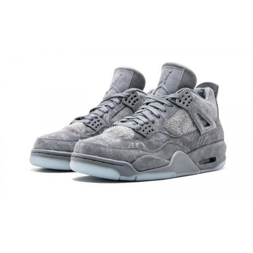 Shoes Hi top trainers Nike Air Jordan 4 Kaws Grey Cool Grey/White