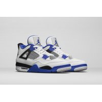 Shoes Hi top trainers Nike Air Jordan 4 Motorsport White White/Varsity Blue-Black
