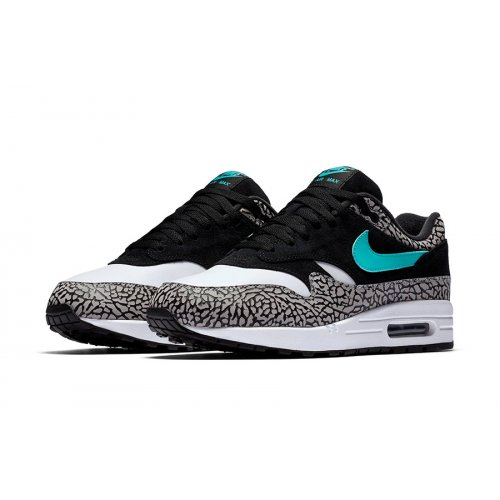 Shoes Low top trainers Nike Air Max 1 Atmos Elephant 2017 Black/Clear Jade-White